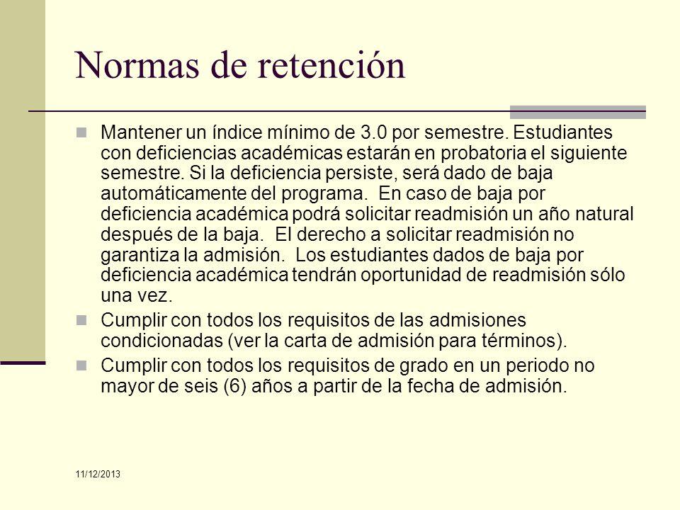 Normas de retención