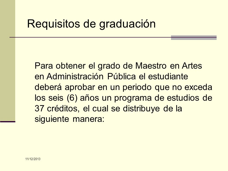 Requisitos de graduación