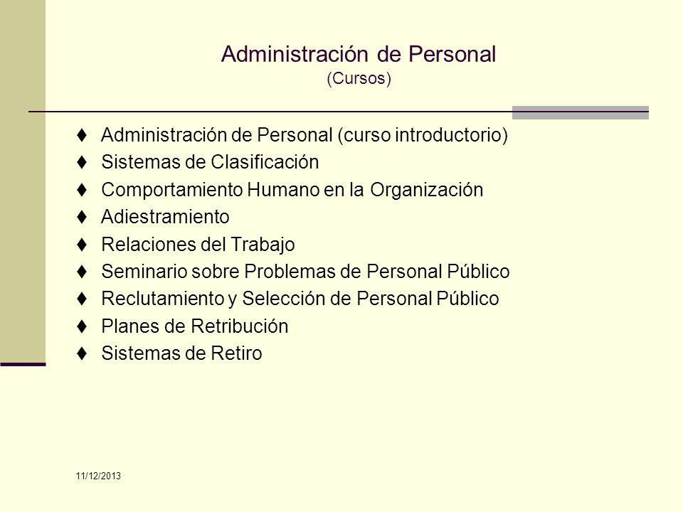 Administración de Personal (Cursos)