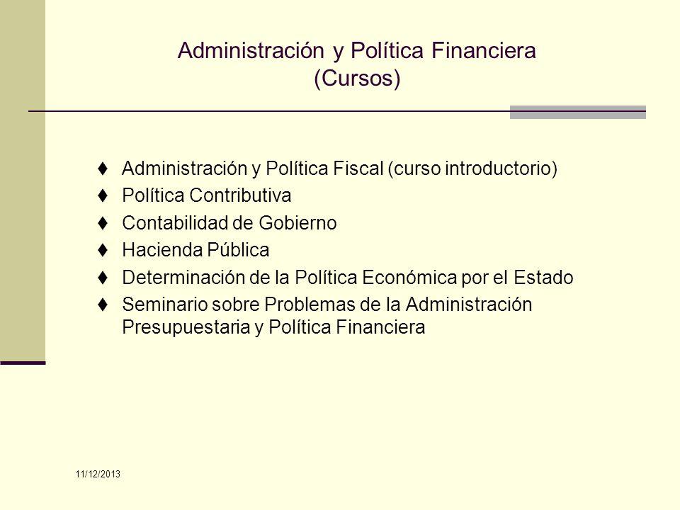 Administración y Política Financiera (Cursos)