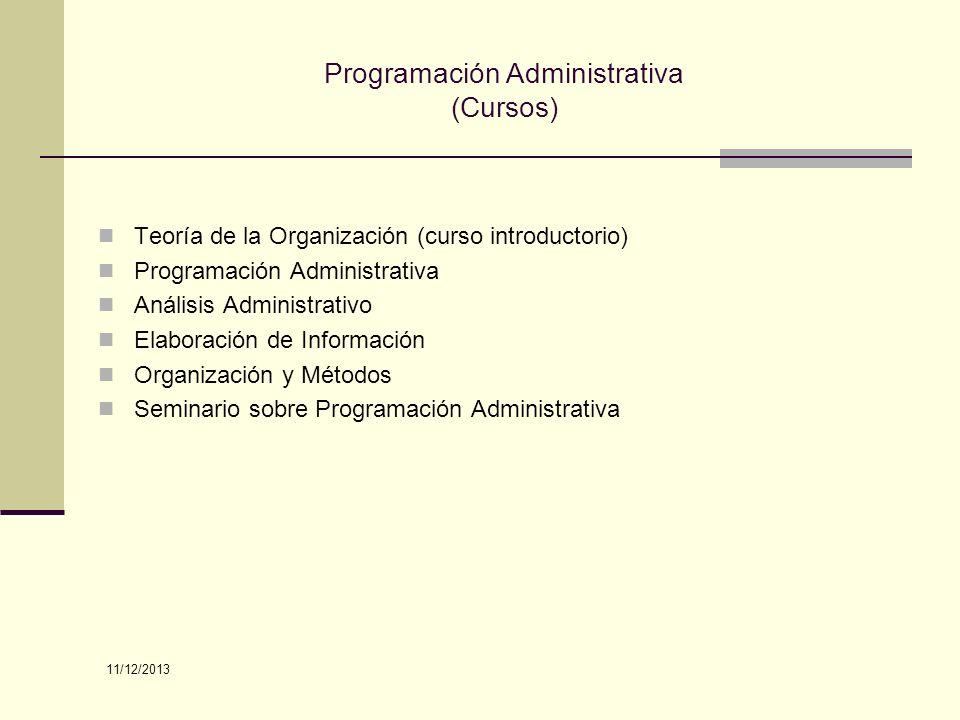 Programación Administrativa (Cursos)