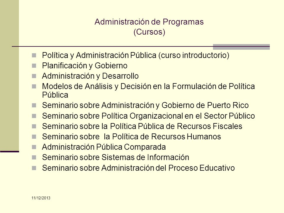 Administración de Programas (Cursos)