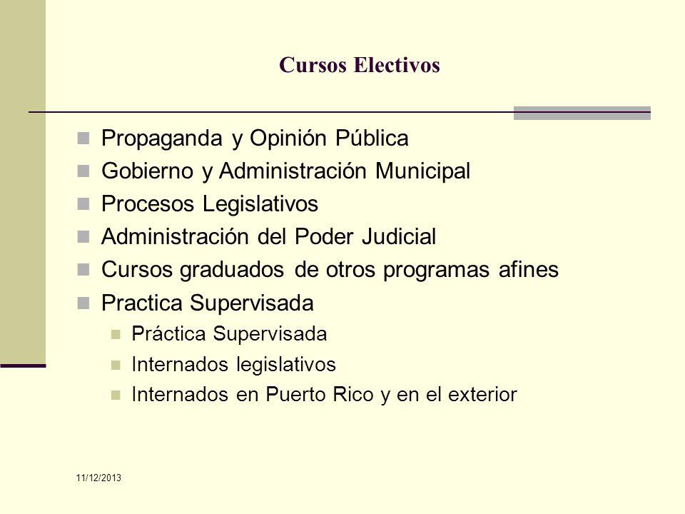 Propaganda y Opinión Pública Gobierno y Administración Municipal
