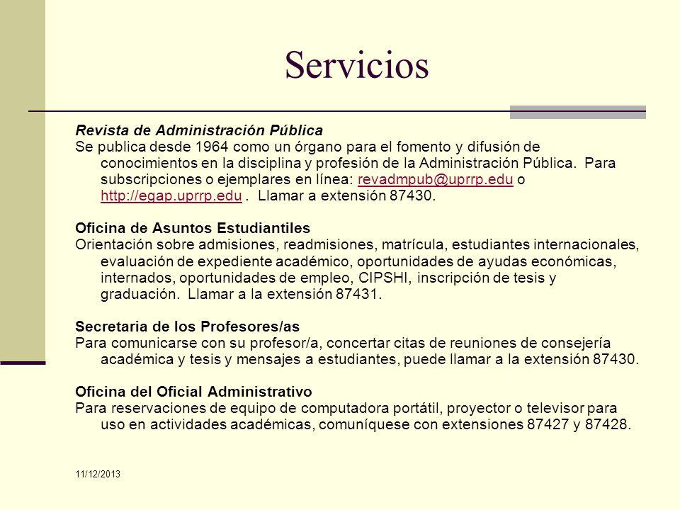 Servicios Revista de Administración Pública