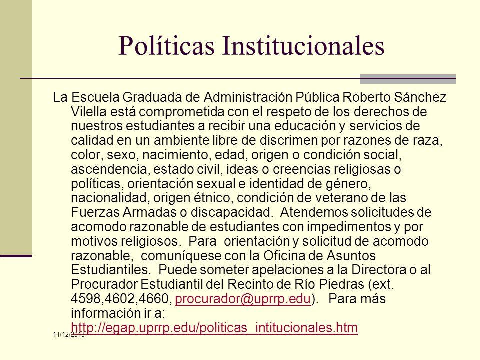 Políticas Institucionales