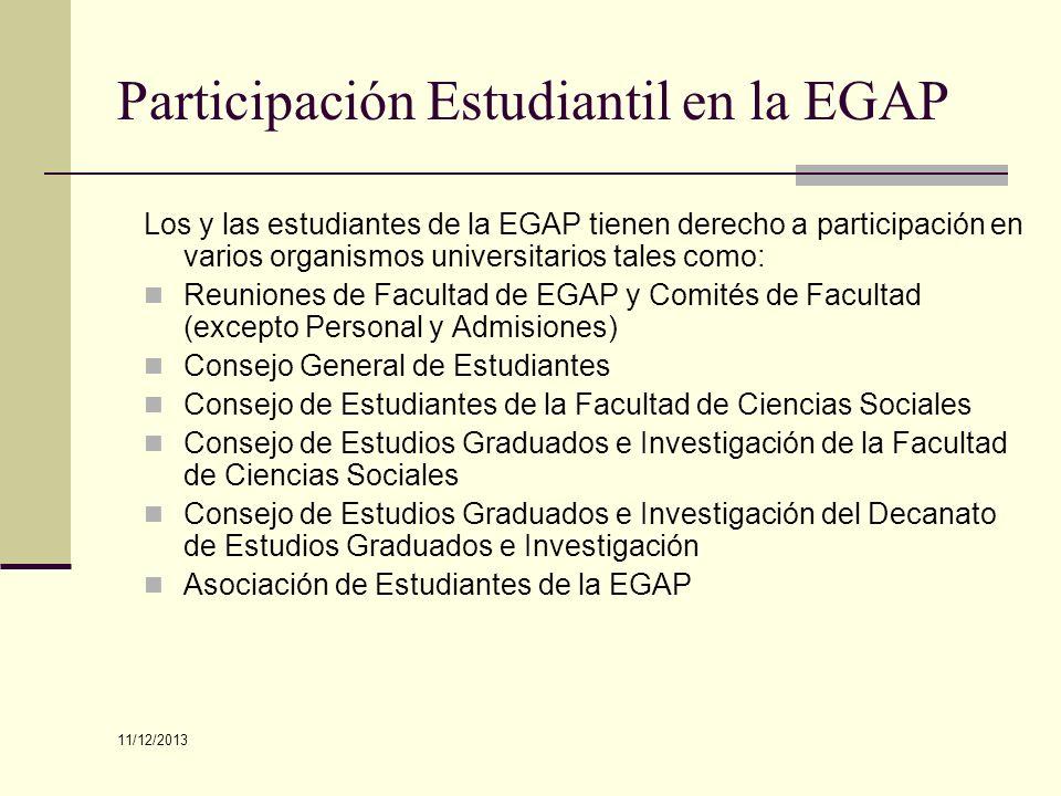 Participación Estudiantil en la EGAP