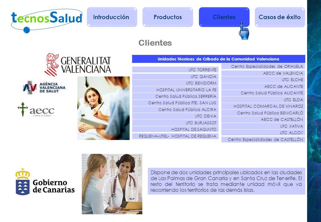 Unidades Técnicas de Cribado de la Comunidad Valenciana