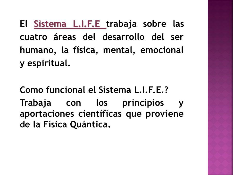 El Sistema L.I.F.E trabaja sobre las cuatro áreas del desarrollo del ser humano, la física, mental, emocional y espiritual.