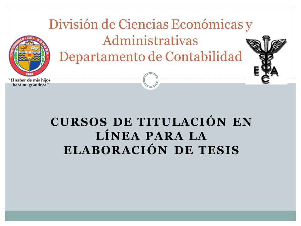 CURSOS DE TITULACIÓN EN LÍNEA PARA LA ELABORACIÓN DE TESIS