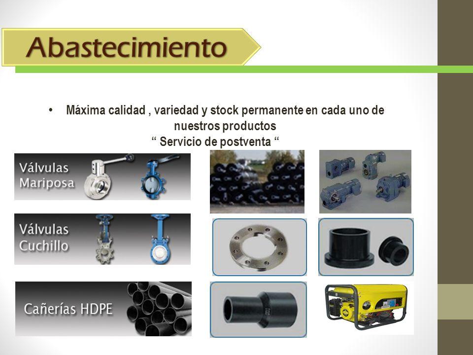 Abastecimiento Máxima calidad , variedad y stock permanente en cada uno de nuestros productos.