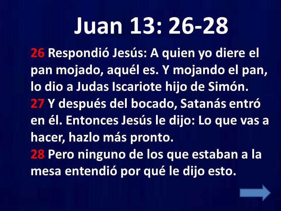 Juan 13: 26-28