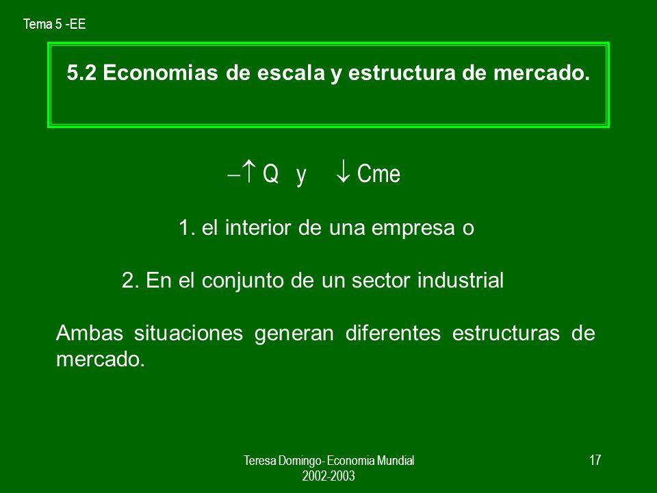 5.2 Economias de escala y estructura de mercado.