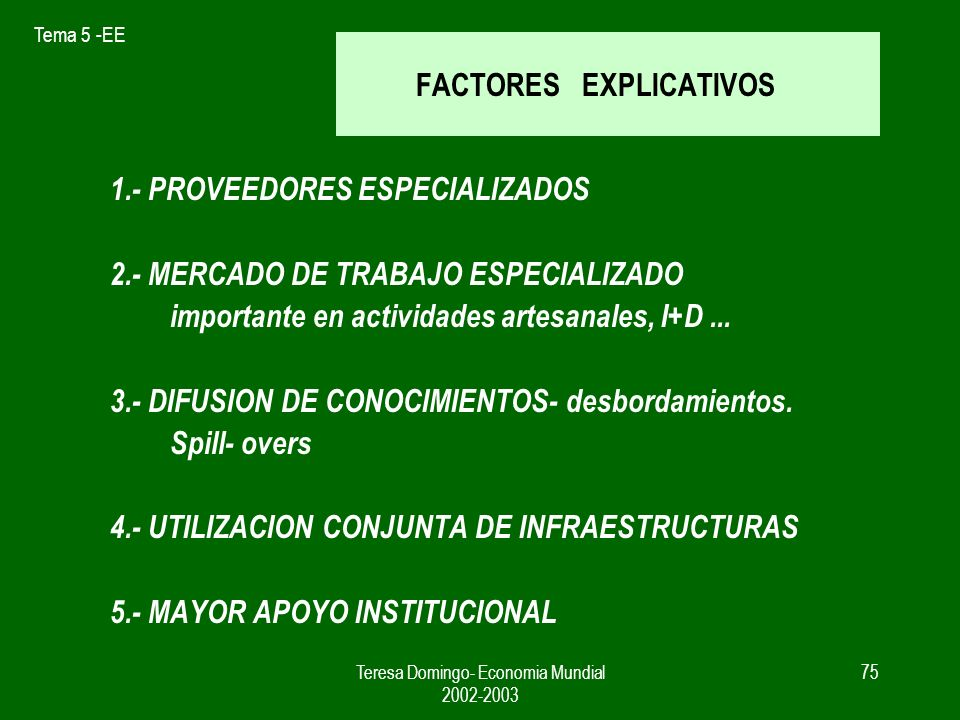 FACTORES EXPLICATIVOS