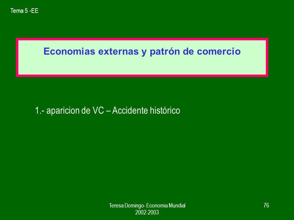 Economias externas y patrón de comercio