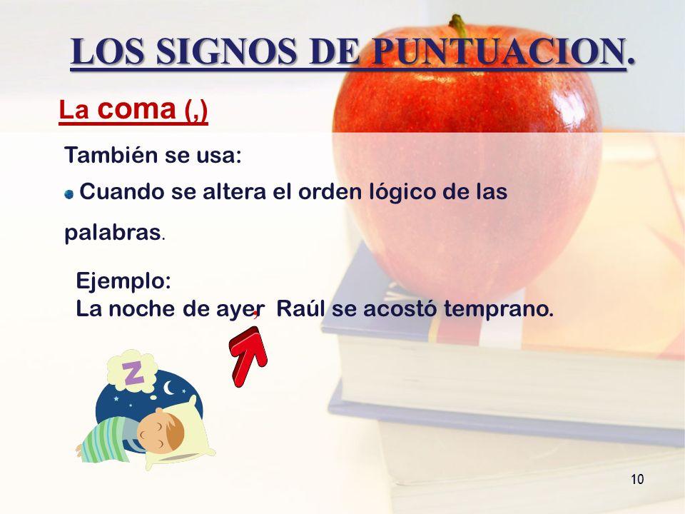 LOS SIGNOS DE PUNTUACION.