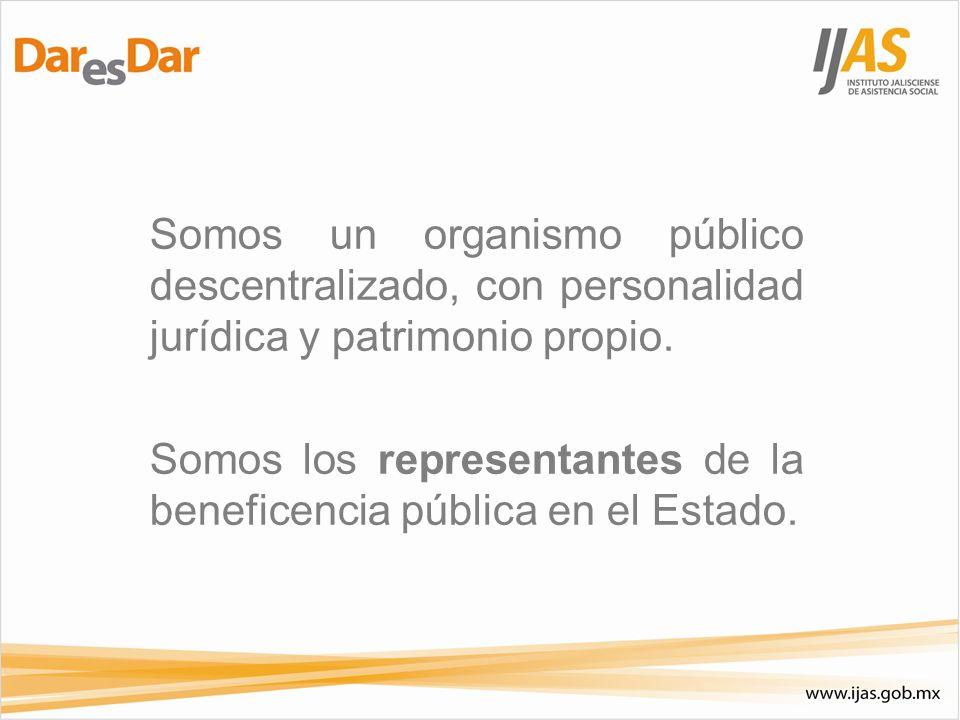 Somos un organismo público descentralizado, con personalidad jurídica y patrimonio propio.