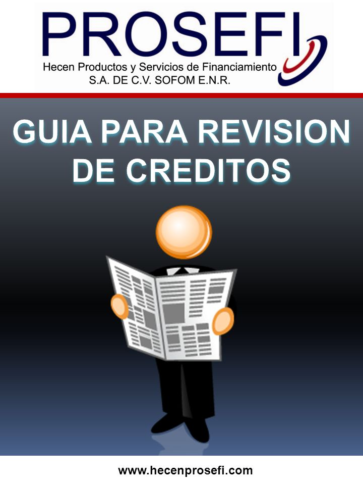 GUIA PARA REVISION DE CREDITOS