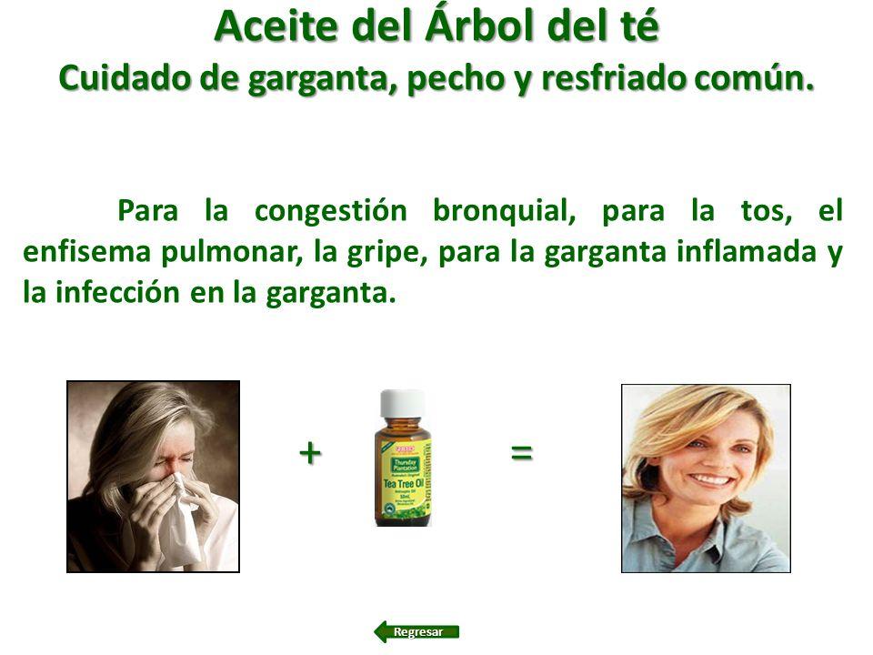 Cuidado de garganta, pecho y resfriado común.