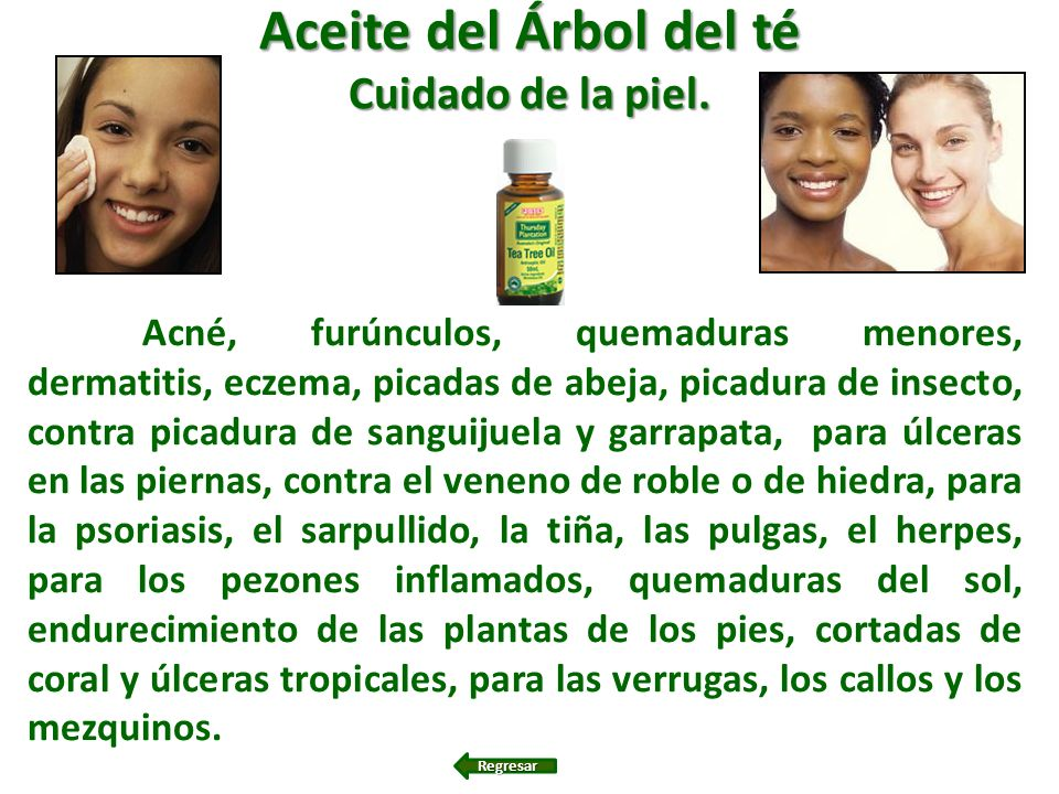 Aceite del Árbol del té Cuidado de la piel.