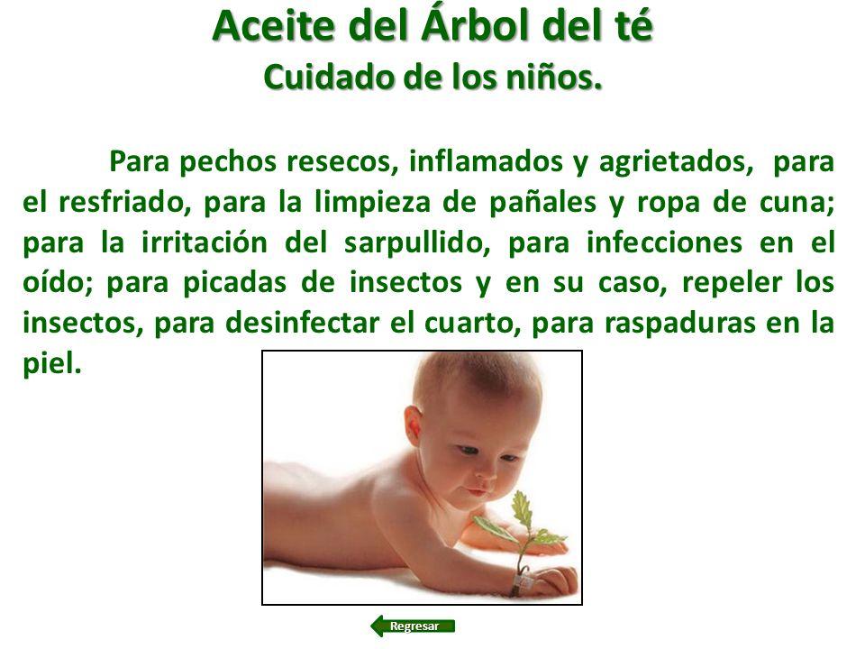 Aceite del Árbol del té Cuidado de los niños.