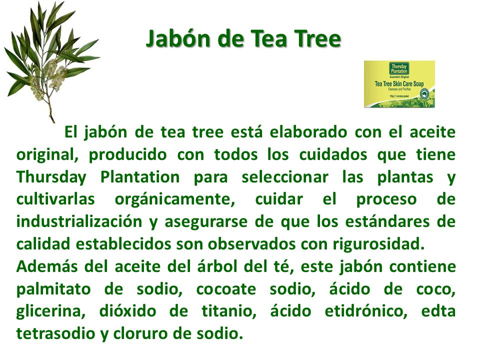 Jabón de Tea Tree