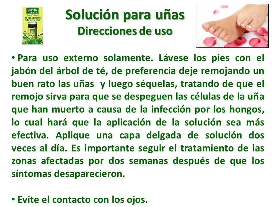 Solución para uñas Direcciones de uso