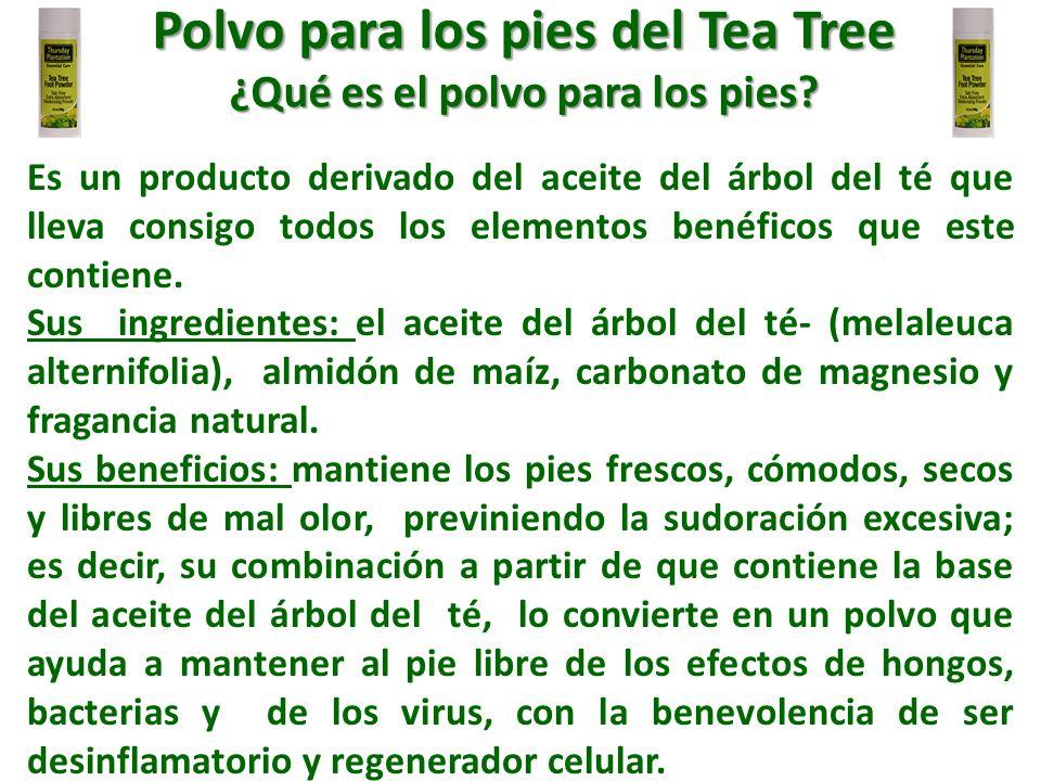 Polvo para los pies del Tea Tree ¿Qué es el polvo para los pies