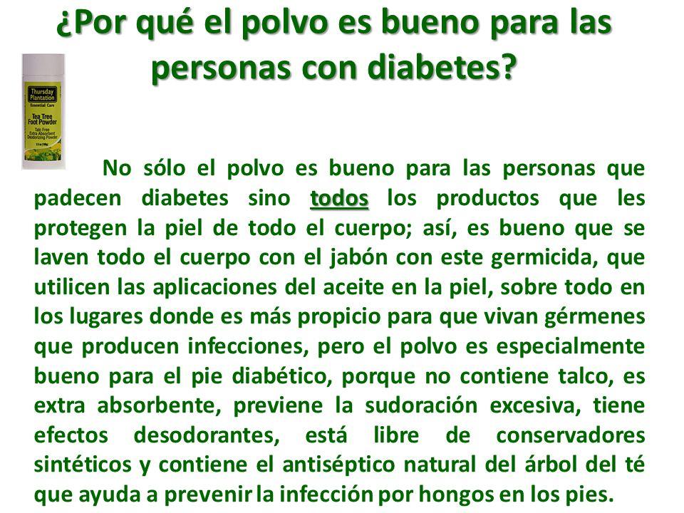 ¿Por qué el polvo es bueno para las personas con diabetes