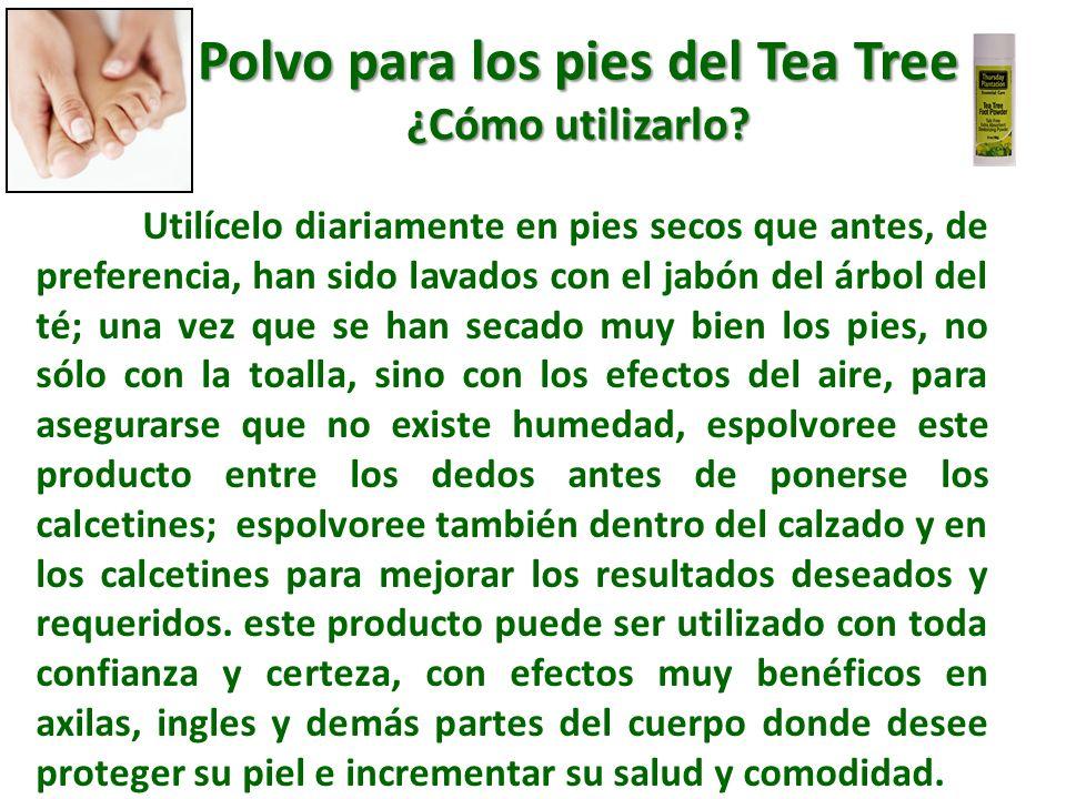 Polvo para los pies del Tea Tree