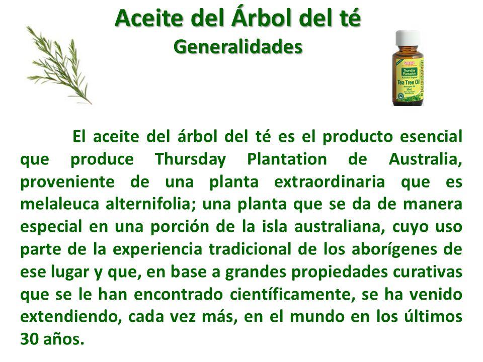 Aceite del Árbol del té Generalidades