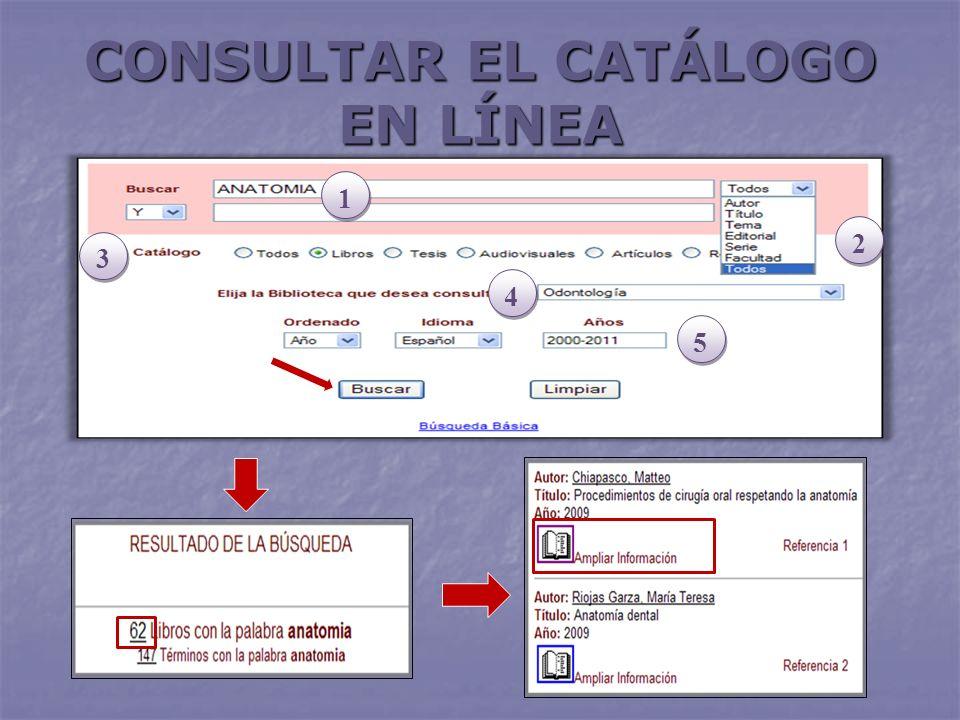 CONSULTAR EL CATÁLOGO EN LÍNEA