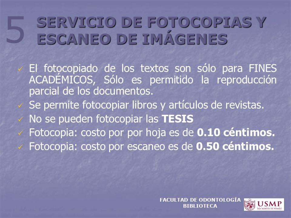 SERVICIO DE FOTOCOPIAS Y ESCANEO DE IMÁGENES