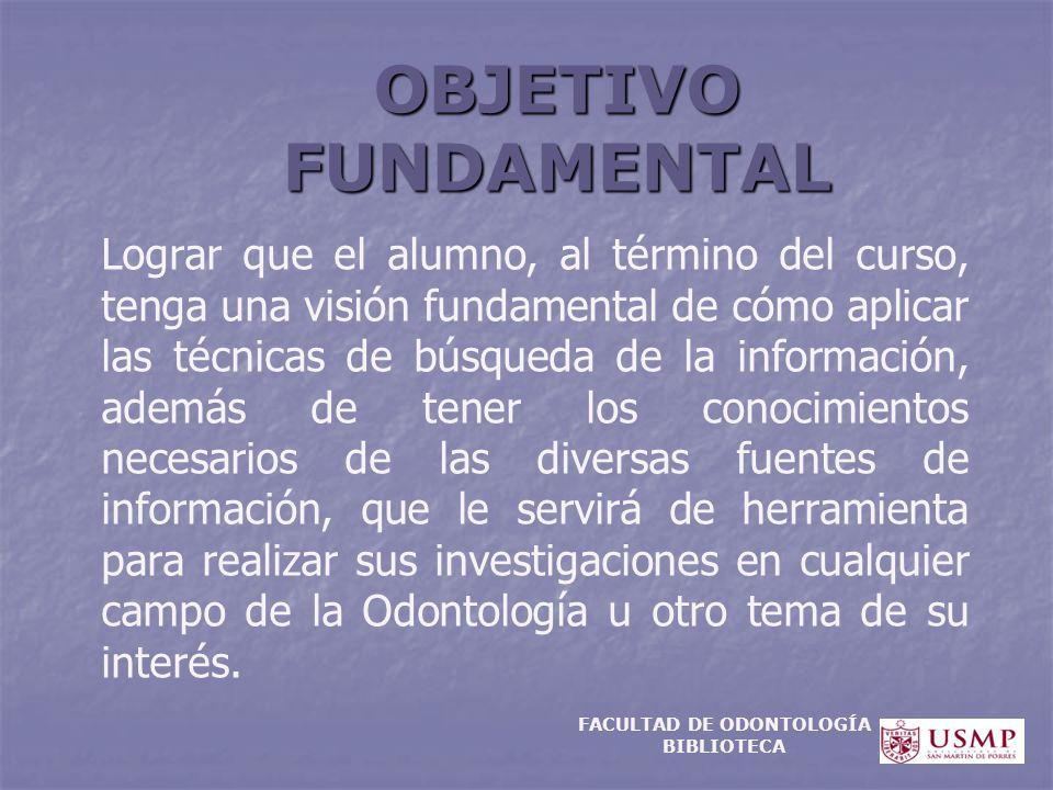 FACULTAD DE ODONTOLOGÍA