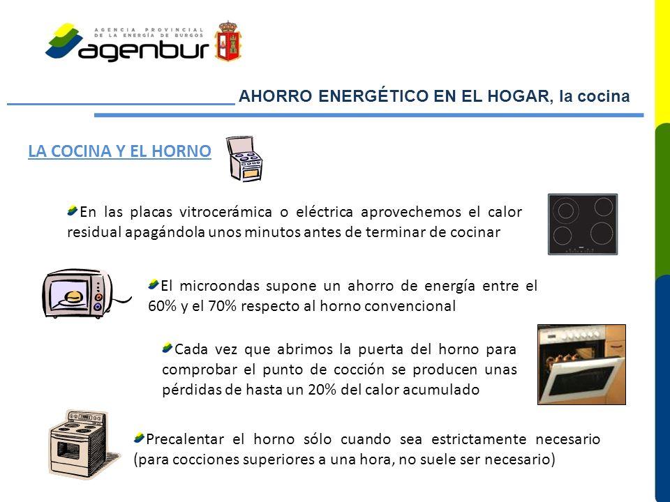 LA COCINA Y EL HORNO AHORRO ENERGÉTICO EN EL HOGAR, la cocina