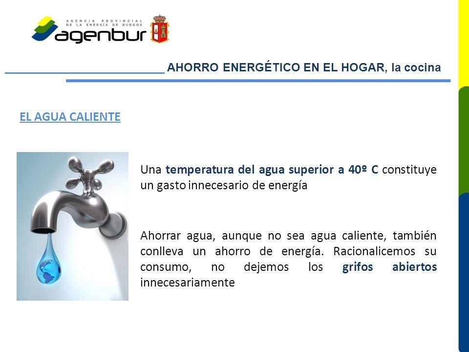 AHORRO ENERGÉTICO EN EL HOGAR, la cocina