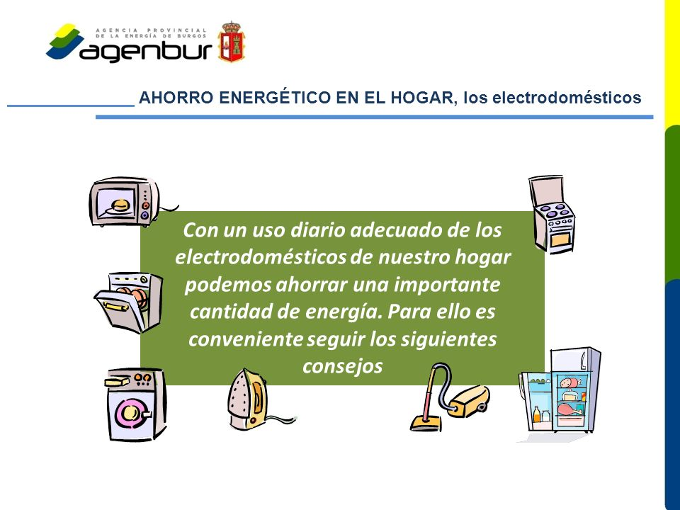 AHORRO ENERGÉTICO EN EL HOGAR, los electrodomésticos