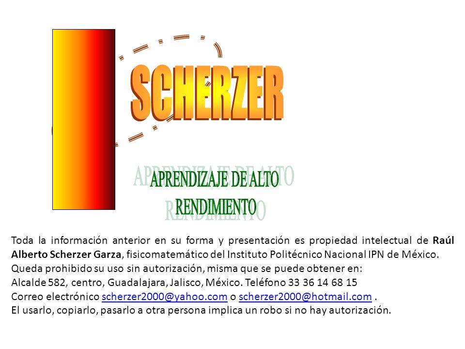 SCHERZER APRENDIZAJE DE ALTO RENDIMIENTO