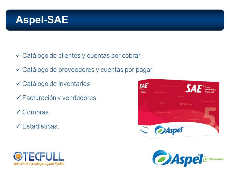 Aspel-SAE Catálogo de clientes y cuentas por cobrar.