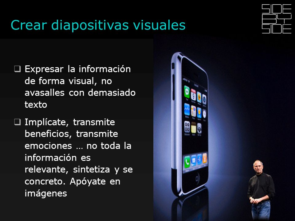 Crear diapositivas visuales