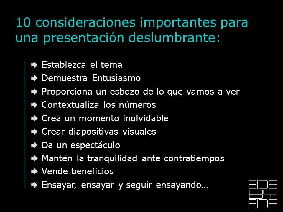 10 consideraciones importantes para una presentación deslumbrante: