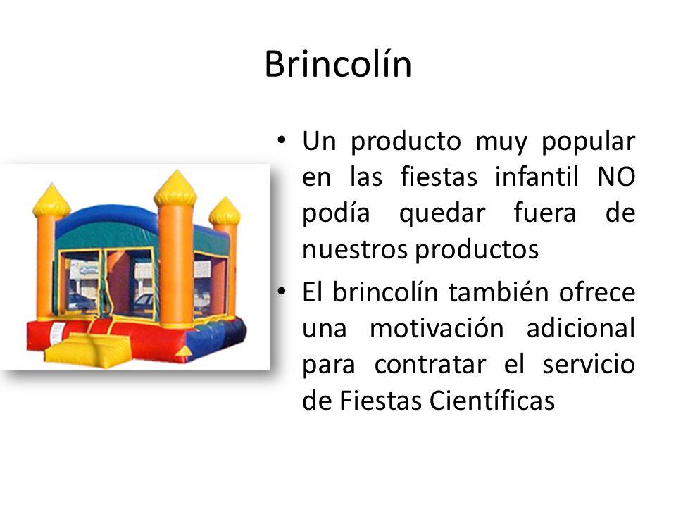 Brincolín Un producto muy popular en las fiestas infantil NO podía quedar fuera de nuestros productos.