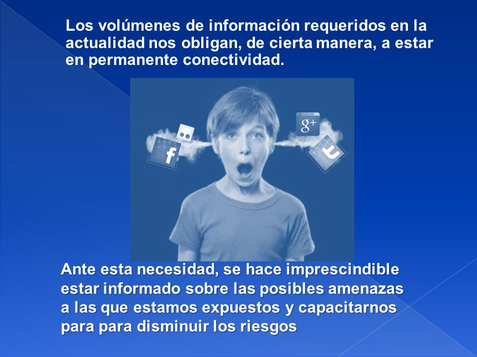 Los volúmenes de información requeridos en la actualidad nos obligan, de cierta manera, a estar en permanente conectividad.