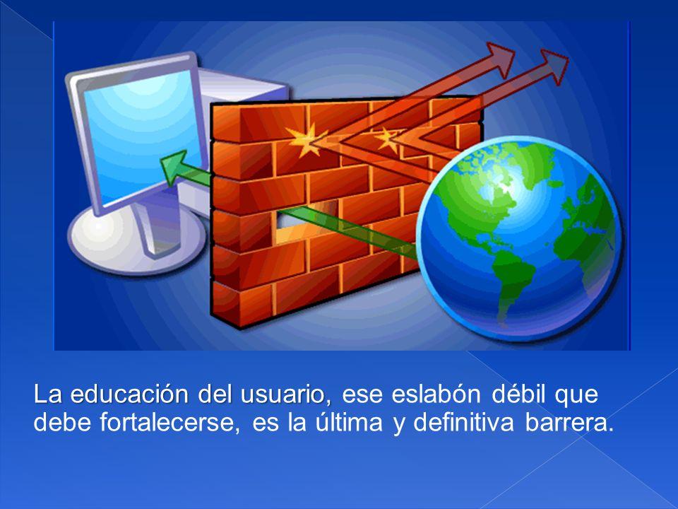 La educación del usuario, ese eslabón débil que debe fortalecerse, es la última y definitiva barrera.