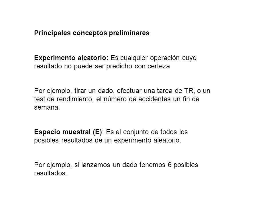Principales conceptos preliminares
