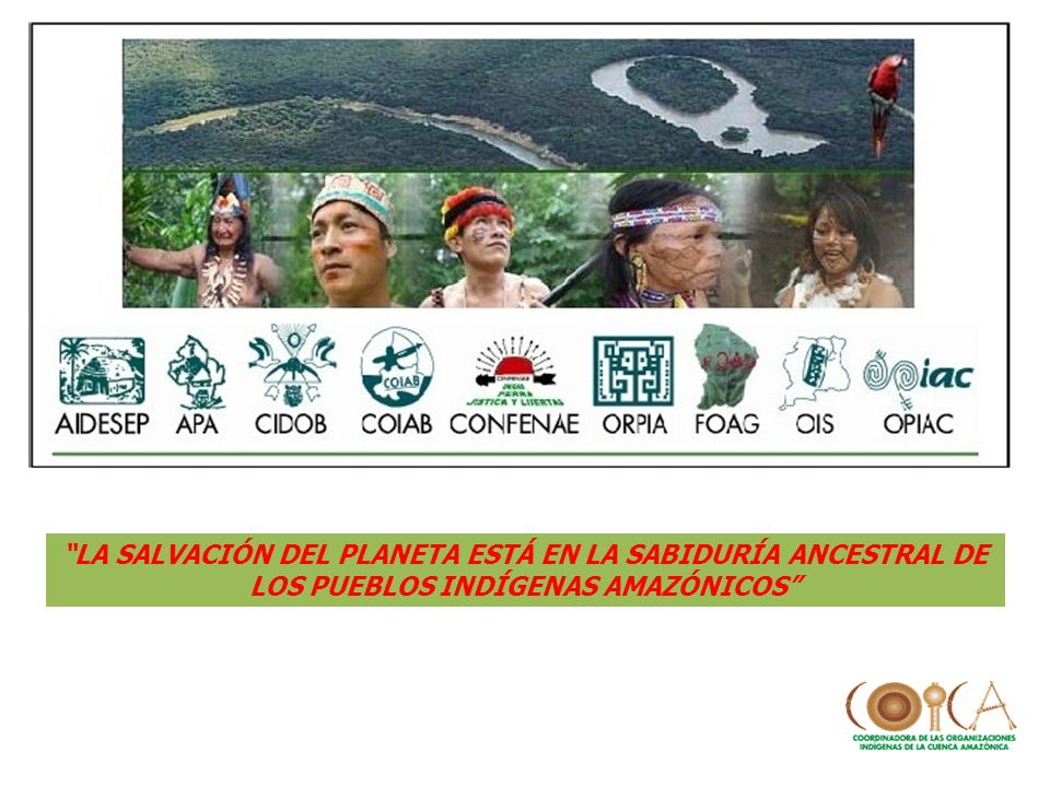 LA SALVACIÓN DEL PLANETA ESTÁ EN LA SABIDURÍA ANCESTRAL DE LOS PUEBLOS INDÍGENAS AMAZÓNICOS