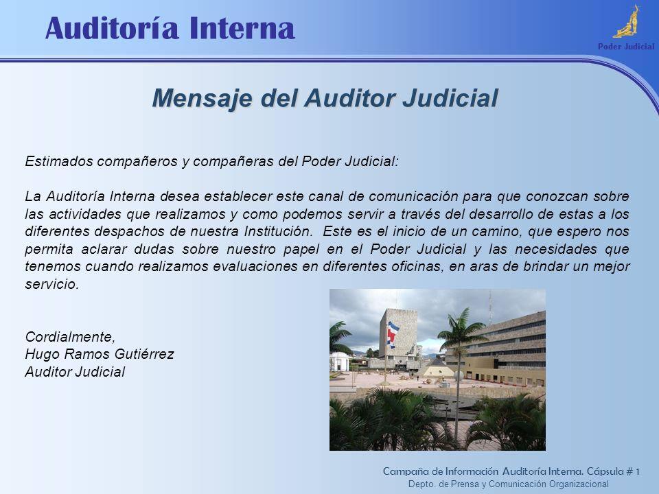 Mensaje del Auditor Judicial