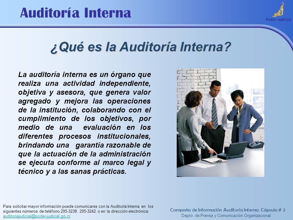 ¿Qué es la Auditoría Interna