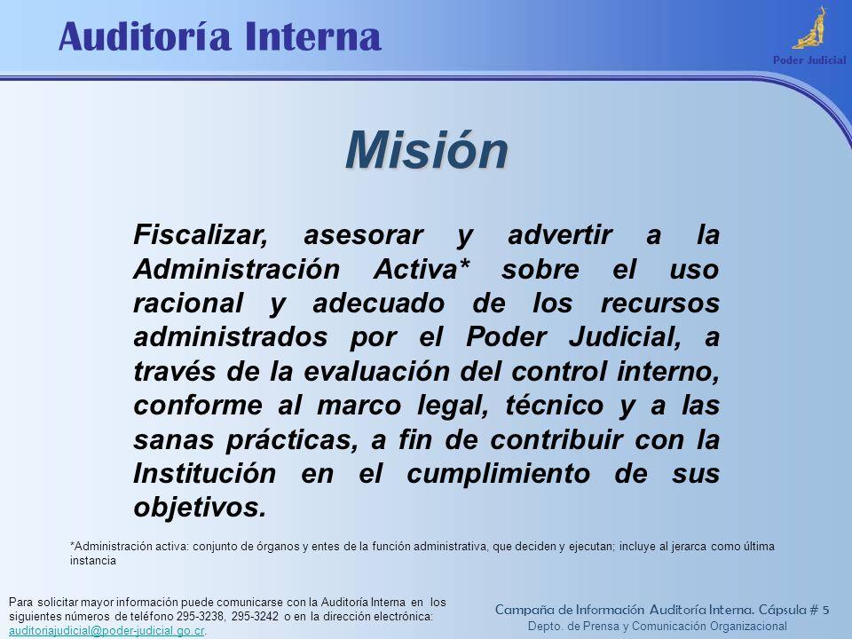 Depto. de Prensa y Comunicación Organizacional