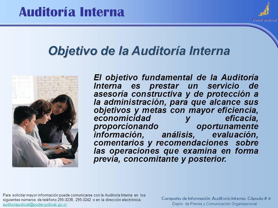 Objetivo de la Auditoría Interna