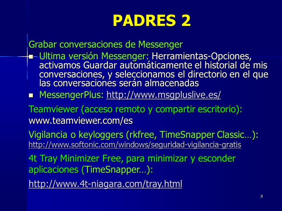 PADRES 2 Grabar conversaciones de Messenger